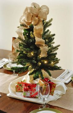 2013 prelit christmas trees, 2013 Personalized  Prelit  Christmas Tree, 2013 Christmas tree lights and burlap ornaments