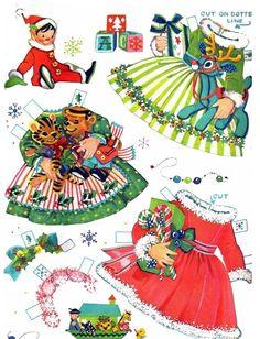 Bonecas de Papel: Um Feliz Natal!