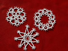 tatted snowflakes for the tree?