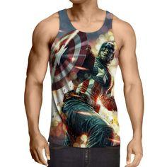 Captain America: 3D Printed Homunculus Captain America Tank Top