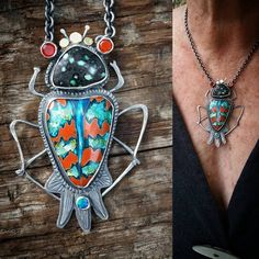 This is the only beetle pendant from this batch. That's a Peacock from Nevada…