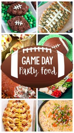 Game Day Party Food-Great football party food ideas whether it's Super Bowl food or food for any tailgate party. Appetizers, desserts, dips and more! #footballparty #footballpartyideas #superbowl Healthy Superbowl Snacks, Game Day Snacks, Game Day Food, Snacks Kids, Super Bowl Party, Super Bowl Dessert Ideas, Football Party Foods, Football Food, Football Tailgate