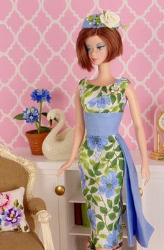 Wild Blue Flax for Barbie & Victoire Roux by HankieChic on Etsy