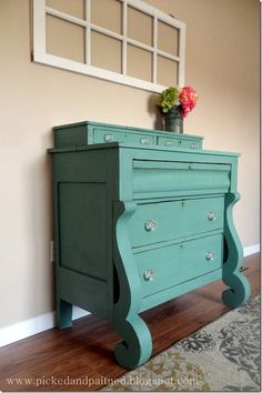 Gorgeous Empire Dresser @ Picked and Painted…another DIY chalk paint recipe