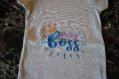 Baby Shirts, Onesies, Funny Aprons, Custom Aprons, Boss Baby, Sister Gifts, Handmade Clothes, Embroidery Thread, Holiday Gifts