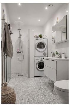 Laundry Bathroom Combo, Laundry Room Organization, Laundry Room Design, Basement Laundry, Laundry Rooms, Laundry Decor, Bathroom Storage, Basket Organization, Laundry Tips