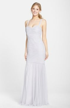 Amsale Tulle Mermaid Gown available at #Nordstrom