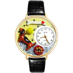 Dachshund Watch in ($41) ❤ liked on Polyvore featuring jewelry, watches, gold, jewelry & watches, women's watches, ball jewelry, ball watches, handcrafted gold jewelry, yellow gold watches y hand crafted jewelry