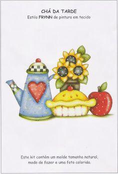 Talita Monteiro: Pintura em Tecido: Chá da Tarde