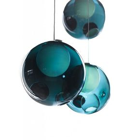 #Pagoda_Blue Really great color and orbs to hang over bar!