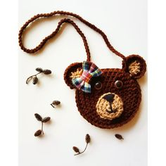Crochet purse animal 15 new ideas Crochet Toddler, Baby Afghan Crochet, Crochet Bear, Love Crochet, Crochet For Kids, Crochet Stitches, Crochet Patterns, Crochet Hats, Beginner Crochet Tutorial