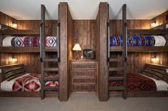 Hallmark Cabin - contemporary - bedroom - austin - Bulhon Design Associates