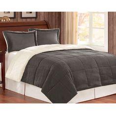 Corduroy/ Berber Fleece Down Alternative 3-piece Comforter Set - Overstock™ Shopping - Great Deals on Comforter Sets