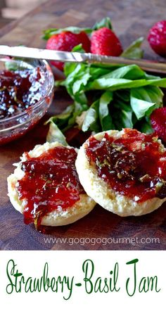 The best way to use deliciously juicy strawberries is this unbelievable strawberry-basil jam