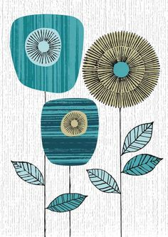 A little retro, a lotta cool. could use scrapbook paper and old book pages for f… A little retro, a lotta cool. could use scrapbook paper and old book pages for fun textures! Blue Block, Old Book Pages, Motif Floral, Doodle Art, Scrapbook Paper, Art Journals, Giclee Print, Print Patterns, Flower Patterns