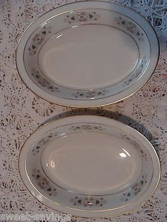 "LENOX Tableau Pattern - 2 oval Vegetable BOWLS 8 3/8"" SERVINGS BOWLS"