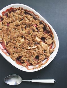 {grain free} Cranberry Apple Maple Crisp from @Sherrie | With Food + Love
