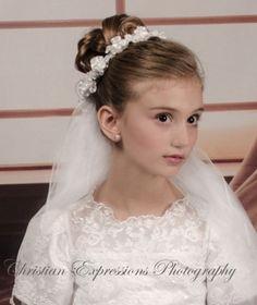Flower Bridesmaid Holy Communion Halo Headdress Mantilla Veils Hairband FG