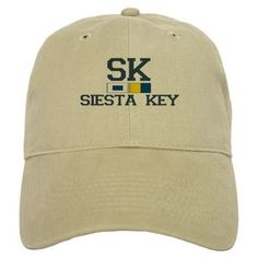 Siesta Key FL - Nautical Design Baseball Cap on CafePress.com