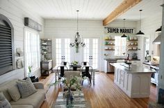See how to get the Fixer Upper farmhouse decor look for your own home. A breakdown room by room, with affordable sources, paint colors and style tips all included.