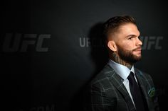 . UFC fighter Cody Garbrandt  talks with the media  during UFC 202 Ultimate…