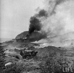 Battlefield at Iwo Jima, 1945, by W. Eugene Smith