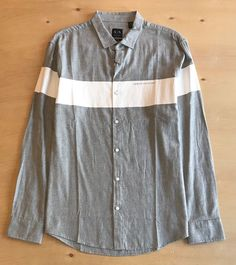 ARMANI EXCHANGE Men's Large long sleeve button up shirt NWT  | eBay Online Price, Button Up Shirts, Men Casual, Buttons, Shirt Dress, Best Deals, Long Sleeve, Sleeves, Mens Tops