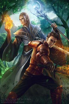 Fantasy novel cover commission for fpspirit (fpspirit.com/) The book is part of a series called Heroes of Ravenford (book 1), which you can grab on Amazon It tells the magical adventures of a group...