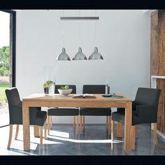 Table de salle à manger en bois de sheesham massif L 160 cm