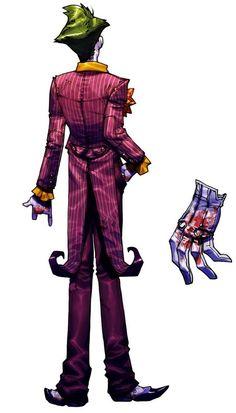Joker | Back View | Batman Arkham Asylum