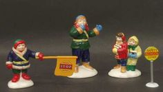 Department 56 Snow Village Safety Patrol-Set Of 4 - Boxed