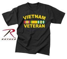 Rothco Vietnam Veteran T-Shirt, Black, X-Large