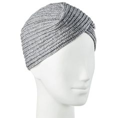 Women's Winter Turban Beanie Heather Grey - Merona, Medium Heather Grey