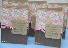 Tea Party Invitations. I am going to make these for Mom's Tea Party in July!:)   by GeorginaKay on Etsy,