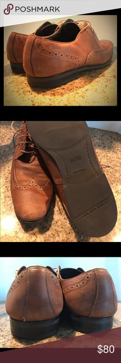 Hugo Boss '50211001' wingtip oxfords Hugo Boss '50211001' Wingtip Cap-Toe oxfords, brown color in excellent pre-loved condition. Looking for a new home and priced to sell Hugo Boss Shoes Oxfords & Derbys