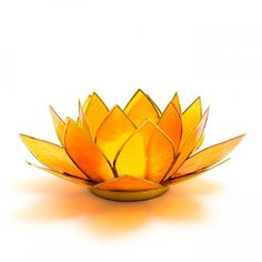 Orange Lotus Flower Tea Light Holder | Sacral Chakra (€11) ❤ liked on Polyvore featuring home, home decor, candles & candleholders, flowers, lotus tea light holder, lotus flower home decor, lotus home decor, lotus flower tealight holder and orange home accessories