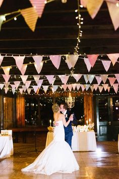 Colorful bunting is also a classic rustic wedding detail that looks so pretty in photos. @myweddingdotcom