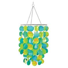 Brewster Home Fashions WPC0330 WallPops Pearl Blue Chandelier  WallPops Pearl Blue ChandelierShimmering like a magnificent mermaid's tail, this chandelier