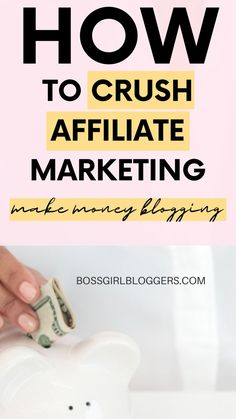 How to crush affiliate marketing and make money blogging! The ultimate guide to making money with affiliate marketing. #affiliatemarketingtips #affiliatemarketing #affiliatemarketingforbeginners #makemoneyblogging #makemoneyonline #makemoneyfromhome #bloggingtips Affiliate Marketing, Marketing Program, Business Marketing, Media Marketing, Marketing Strategies, Marketing Products, Marketing Videos, Content Marketing, Business Tips
