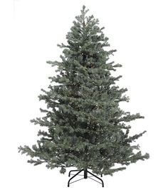 6.5ft Mountain Fir artificial Christmas tree comes pre-lit with 2500 rice…