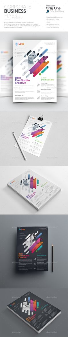 Flyer — Photoshop PSD #liflet #logo • Download ➝ https://graphicriver.net/item/flyer/19771042?ref=pxcr