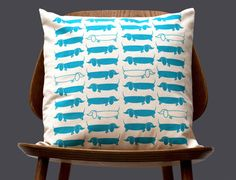 New Scandinavian Retro 1970 turquoise blue sausage by gunnaydri