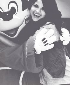 With Mickey.