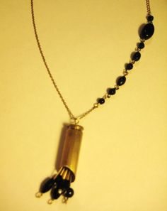 Bullet necklace with beads by Sophia Aisinger - with tutorial