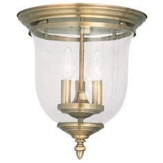 Livex Lighting Legacy Antique Brass Ceiling Mount 5024-01