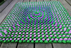 Plastic bag recycling for crochet floor rug
