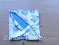 rose coaster tutorial. Cute quilt block idea sorta like cathedral window