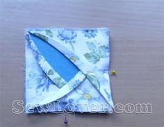 rose coaster tutorial. Cute quilt block idea sorta like cathedral window