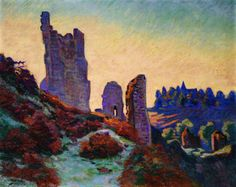 The Ruins of the Château de Crozant (Armand Guillaumin - 1898)