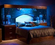 Aquarium bed decoration creative home decor life hacks cool decor fun home ideas amazing home ideas aquarium bed